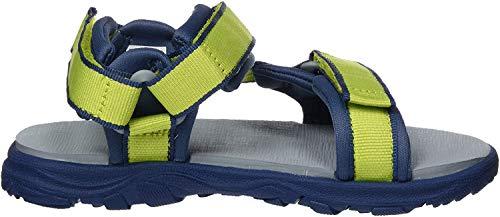 Jack Wolfskin Unisex-Kinder Seven SEAS 3 K Sport Sandalen, Grün (Lime/Blue 4171), 36 EU