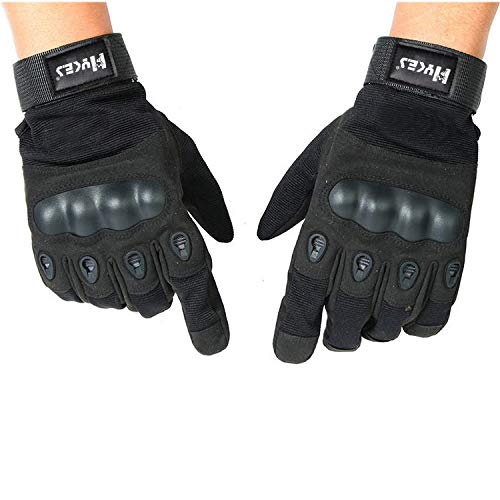 Hykes Full Finger Bike Gloves Racing Motorcycle Riding Tactical Outdoor For Men & Women