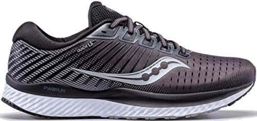 Saucony Men's S20549-40 Guide 13 Running Shoe, Black | White - 7 W US