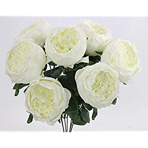 Admired By Nature ABN1B008-CREAM 9 Stems Artificial Rose Hydrangea Mixed Bouquet, D. Cream