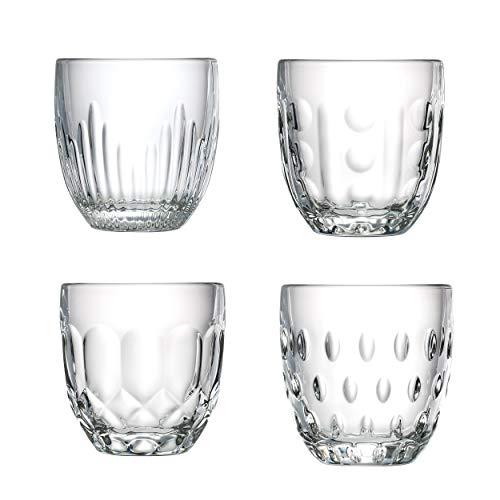 La Rochère Wasserglas Ornamente Klar 230 ml - 4 Gläser - schöne Trinkgläser mit einzigartigen Look