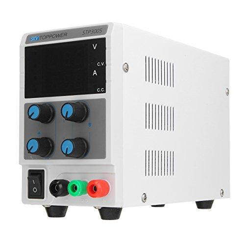 Tutoy 12V 5A Commutateur Réglable d'alimentation CC Affichage Numérique avec Cordon d'alimentation Alligator Cable