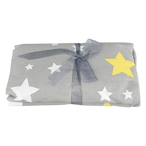 Sábana bajera para cuna, patrón de estrellas, para bebé y recién nacido