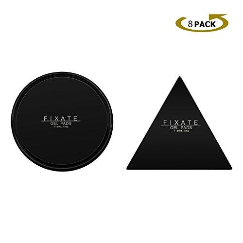 Tianhaixing Nano Gummi Fixate Gel Pads mit zuverlässiger Haftung, erhältlich für alle Oberflächen wie Armaturenbrett-Handyhalter und Ablage, Wiederverwendbare Antirutschmatte | Klebepads [8er Pack]
