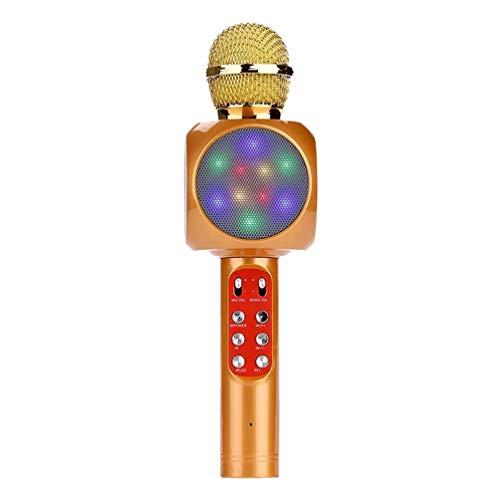 LIOOBO Karaoke mikrofon Wireless mikrofon tragbare Beleuchtung mikrofon für ktv Cafe Schule Hause Restaurant