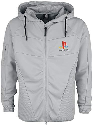 Playstation Console Männer Kapuzenjacke grau M 100% Polyester Fan-Merch, Gaming, Retrogaming