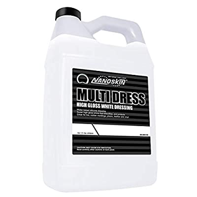 High Gloss Water Based, Silicone White Tire Dressing [NA-MDS128], 1 Gallons
