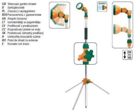 FLO 89390 - ducha de jardín con 1.6-2.4m trípode