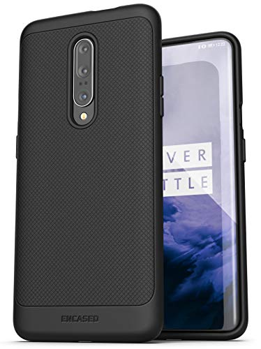 Encased OnePlus 7 Pro Case (Thin Armor) Slim Fit Flexible Grip Phone Cover - Black