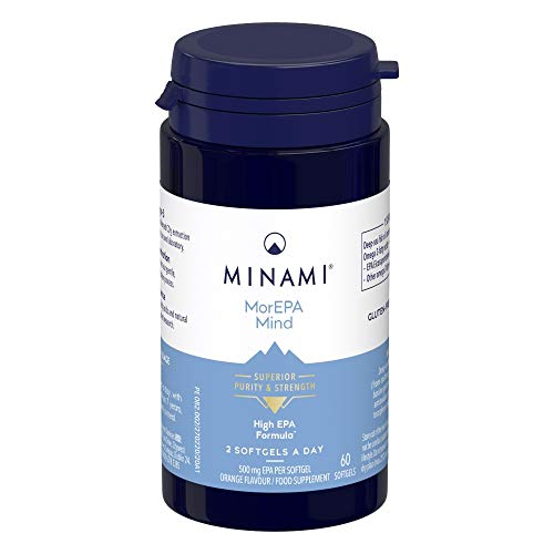 Minami - MorEPA Mind - Provides Ultra-Pure, Highly Concentrated Omega 3 Fish Oil - High EPA Formula - Supporta Normal Brain Function and Mood - 60 Softgels