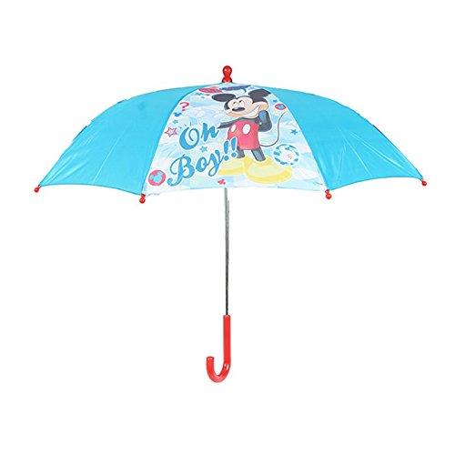 Disney - 3617 - Paraguas para Niños Mickey Mouse, Apertura Manual