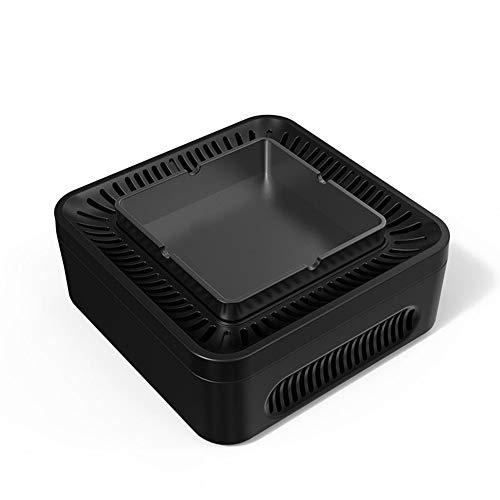 YXZN Aschenbecher Negativ Ionen Luftreiniger Saugen Staub Rauch Homehold,Black,153.5X153.5X65.7MM