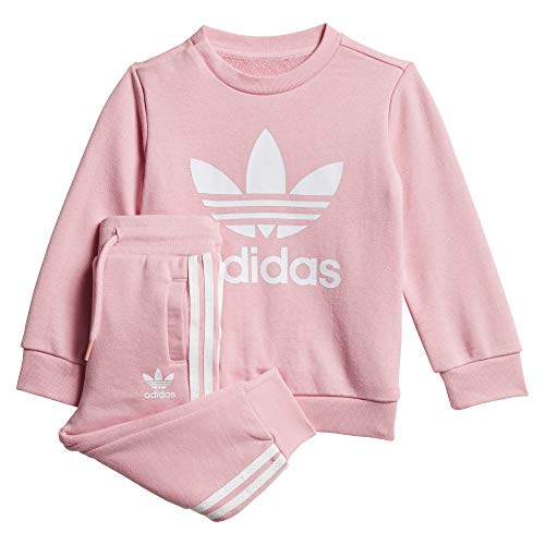 adidas Crew Set, Tuta Unisex Bimbi, Light Pink/White, 1218