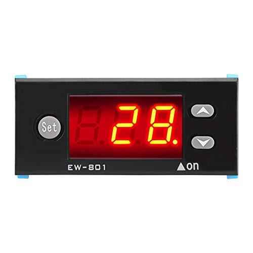 Controlador de temperatura digital Calentador de agua solar Controlador de temperatura Termostato con sensor Pantalla digital Equipo de calentador de agua solar