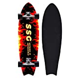YHNJI 31'x 8' Completo Skateboard para Principiantes Capas de Madera de Arce Monopatin para Niños Niñas Adolescentes Jóvenes, Cruiser Trick Patinetas con Rodamientos ABEC-9, Carga de 150 Kg