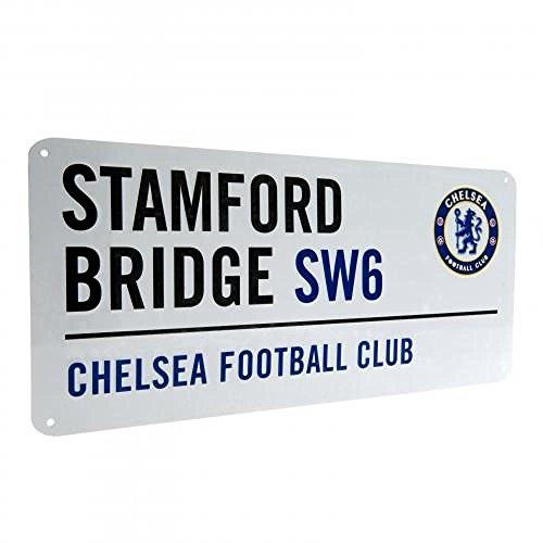 Straßenschild Chelsea FC Offizielles Fußball-Geschenk, tolles Weihnachts-/Geburtstagsgeschenk für Männer und Jungen