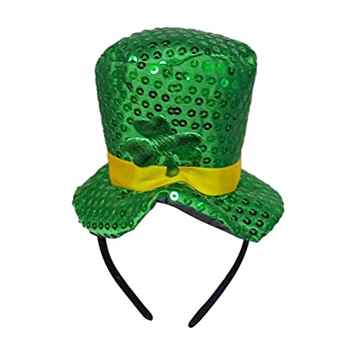 BESTOYARD St Patrick Tag Stirnband grün Klee Hut Haarreif Kopfbedeckung für Irish Holiday Mini Kopf Schnalle Dekoration