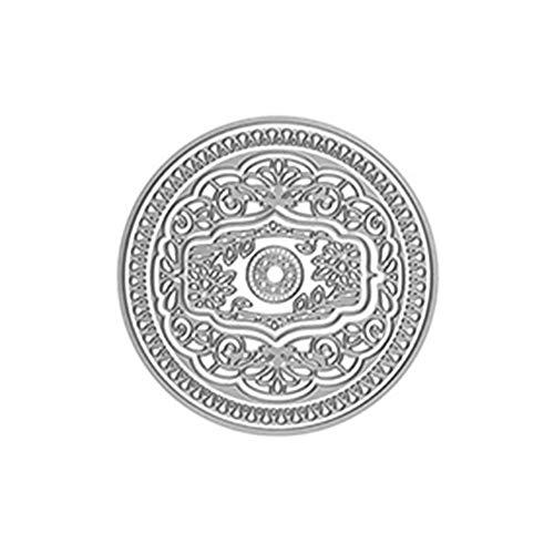 ZHOUBAA Stanzschablonen aus Metall für Bastelarbeiten, hohler Rahmen/Kreis, Stanzform für Scrapbooking, Papierkarten, Album, Schablone Dekor JAM0739