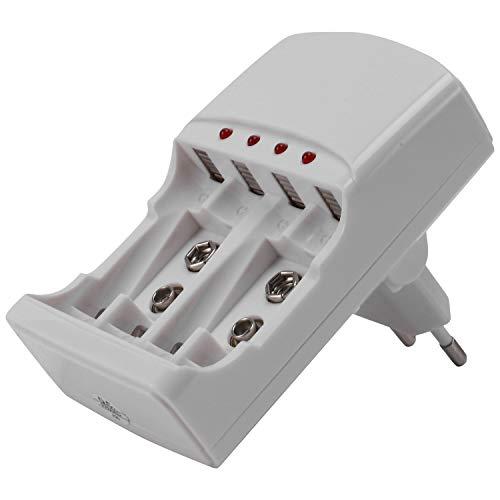 Senmubery AA AAA 2A 3A 9V Cargador De Batería Carga Eléctrica para AA AAA 9V (6F22) Baterías Recargables De Ni-Mh (EU Enchufe)