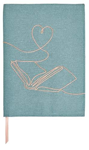 moses. Libri-x - Funda de libro con marcapáginas de algodón   sobre para leer   One Line Art   Tamaño L, multicolor