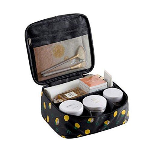 Coque Générique Femmes à Pois Multifonction Sac de Voyage Cosmétiques Sac Étui Pochette Trousse de Toilette Maquillage Organisateur Noir