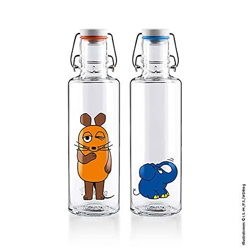 soulbottles Set: Trinkflaschen Die Maus + Der Elefant
