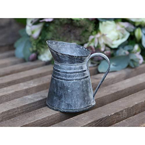 Chic antieke pot pot vaas gieter metaal zink nostalgie Franse landelijke stijl
