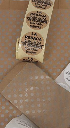Conjunto para tu boda, 50 bolsas Sólo para lagrimas de Felicidad, 50 bolsas kit anti resaca