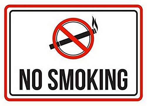 HNNT Metalen bord 8x12 inch Geen Roken Rood, Zwart en Wit Zakelijke Commerciële Beveiliging Teken Wanddecoratie voor Wanddecoratie