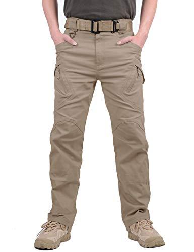 MAGCOMSEN Pantaloni cargo da uomo Army Combat, pantaloni da lavoro da uomo, traspiranti, funzionali, in cotone, militari con tasche multiple, Uomo, MCSQZK-68-Khaki-3XL, cachi, 38