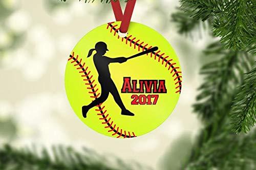 Softball ornament, softball hitter ornament, softball Christmas ornament, personalized ornament, softball team gift, softball player gift