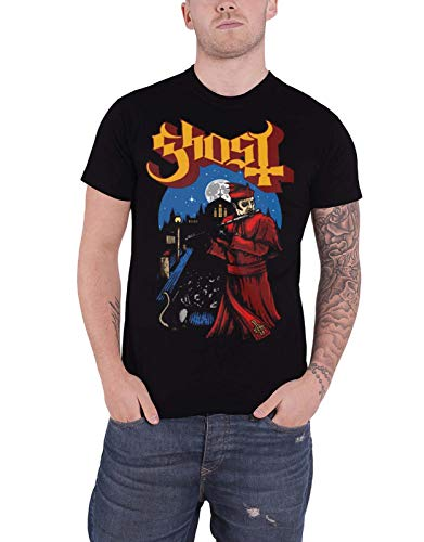 Ghost T Shirt Advancing Pied Piper Band Logo Prequelle Official Mens Black Size XL