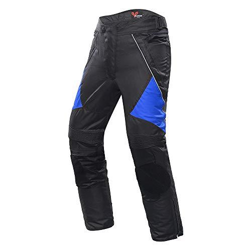 Motorbroek, racebroek voor motorfietsen, anti-val-motorbroek, fietsbroek, uniseks XL Blauw