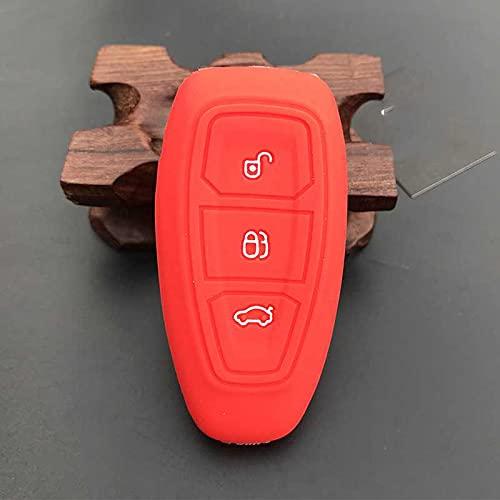 LZZCTB Cubierta de la llave del coche, llavero inteligente de silicona de rana, carcasa protectora de entrada sin llave, caja de botón, ajuste para Ford Mondeo Focus Fiesta Kuga C-Max S-Max MK3