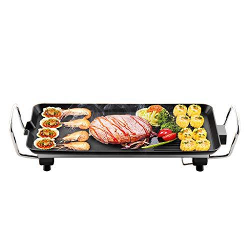 NO BRAND Eléctrico Teppanyaki Table Top Grill Griddle BBQ Barbacoa Antiadherente Plancha...