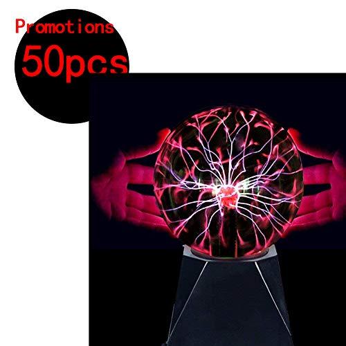4 Zoll Plasmakugel Plasma Ball Kugel Blitze Touch Sensitive Magische Lampe für Geburtstag Spielzeug Disco Party Dekoration Geschenk Schreibtisch