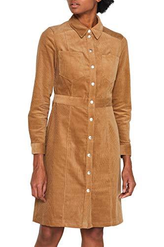 ESPRIT Damen 099Ee1E046 Kleid, Braun (Camel 230), (Herstellergröße: 38)