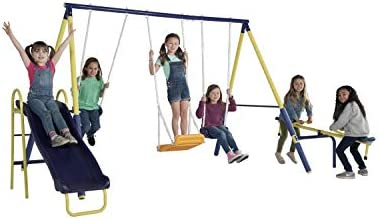 Sportspower Palmview Swing Set Outdoor Heavy Duty Metal Playset for Kids product image