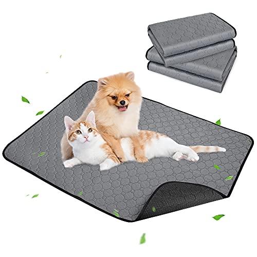 SlowTon Almohadillas lavables para Perro, 2 Piezes 70*50cm Tapetes Reutilizable Desechables de Entrenamiento para Orinar Perros Gato Mascotas, Rápido Absorbente Impermeable Forro de Jaula Para Viajes