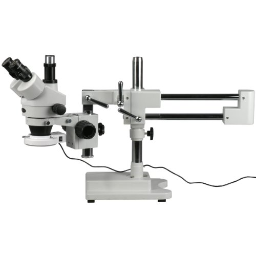 AmScope 3.5X-90X Circuit Inspection Trinocular Zoom Stereo Microscope with 56-LED Light