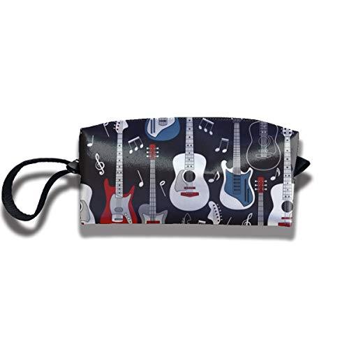 Bbhappiness Pouch Handbag Cosmetics Bag Case Purse Travel & Home Portable Make-up Receive Bag Guitars On Black