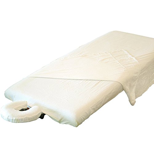 TAOline flanel set (3-delig): Laken, deken & hoofdsteunbekleding, 100% katoen, overtrek voor massagelligbed, wasbaar op 60 °C, geschikt voor de droger