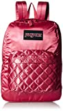 JanSport Super FX Backpack - Trendy School Pack With A Unique Textured Surface | STL Rose Diamond Quilting