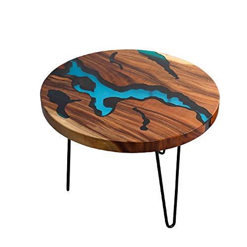 SJYDQ Elegante Haarnadel Tischbeine Nordic Style Tisch River Base Wohnzimmer Kaffee Esszimmer Holz Tischharz Epoxy