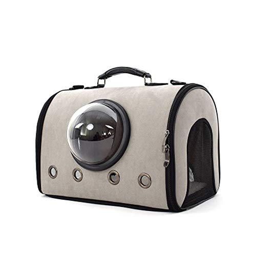 LXFTK FamilyFamilyCat levert kat en hond uit handige handtas suède tas ruimte capsule ademende kat zak huisdier bagOutdoorOutdoor, size, Grijs