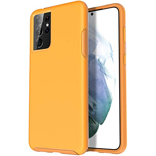 Krichit Ongoing Series Compatible with Samsung Galaxy S21 Ultra Case 5G (2021), Anti-Drop and Shock-Absorbing case Compatible with 6.8-inch Galaxy S21 Ultra Case (Yellow)