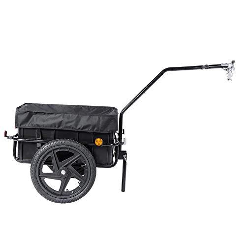 LetCart Fahrradwagen-70L Anhänger Fahrrad Fahrrad Mit Anhängerkupplung, Transportbox mit 70-Liter-Kugelkupplung für Fahrräder