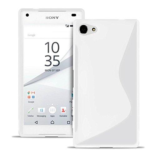 United Case Estuche S-Line para Sony Xperia Z5 Compact En Blanco | Bolsa De Color Liso |