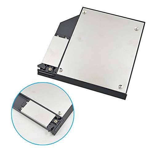 Bfenown 2nd HDD SSD Hard Drive Caddy Tray Replacement for Dell Latitude E6400 E6500 E6410 E6510 Precision M2400 M4400 M4500 Modular Bay Adapter to 2.5 Inch 9.5mm