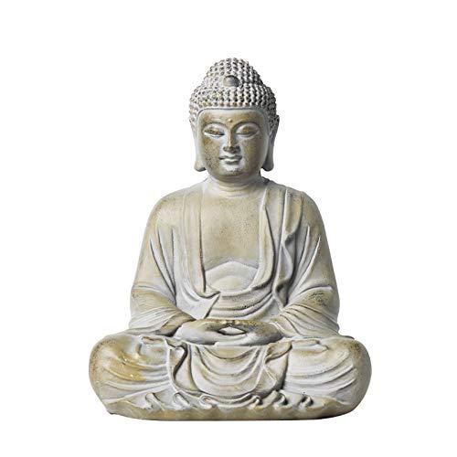 Poitemsic 10' Tall Bronzed Meditating Buddha Statue Zen Spiritual Buddha Figure Ornament for Outdoor Garden Patio Yard Home Meditation Decoration Room Housewarming